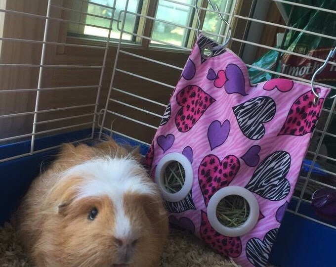 Guinea Pig Or Rabbit Hay Bag - Pet Feeder