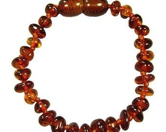 Bracelet amber true color Cognac baby