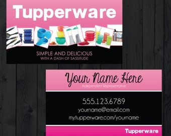 SALE**** Tupperware - Business Cards - Printed