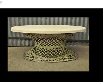 10% Off Sale! Vintage Mid Century Modern Russell Woodard Spun Fiberglass Outdoor Coffee Table