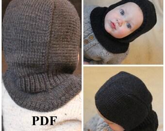 Knitting PDF pattern, Balaclava pattern, Balaclava knitting pattern, hat knitting pattern, winter hat pattern, helmet hat pattern