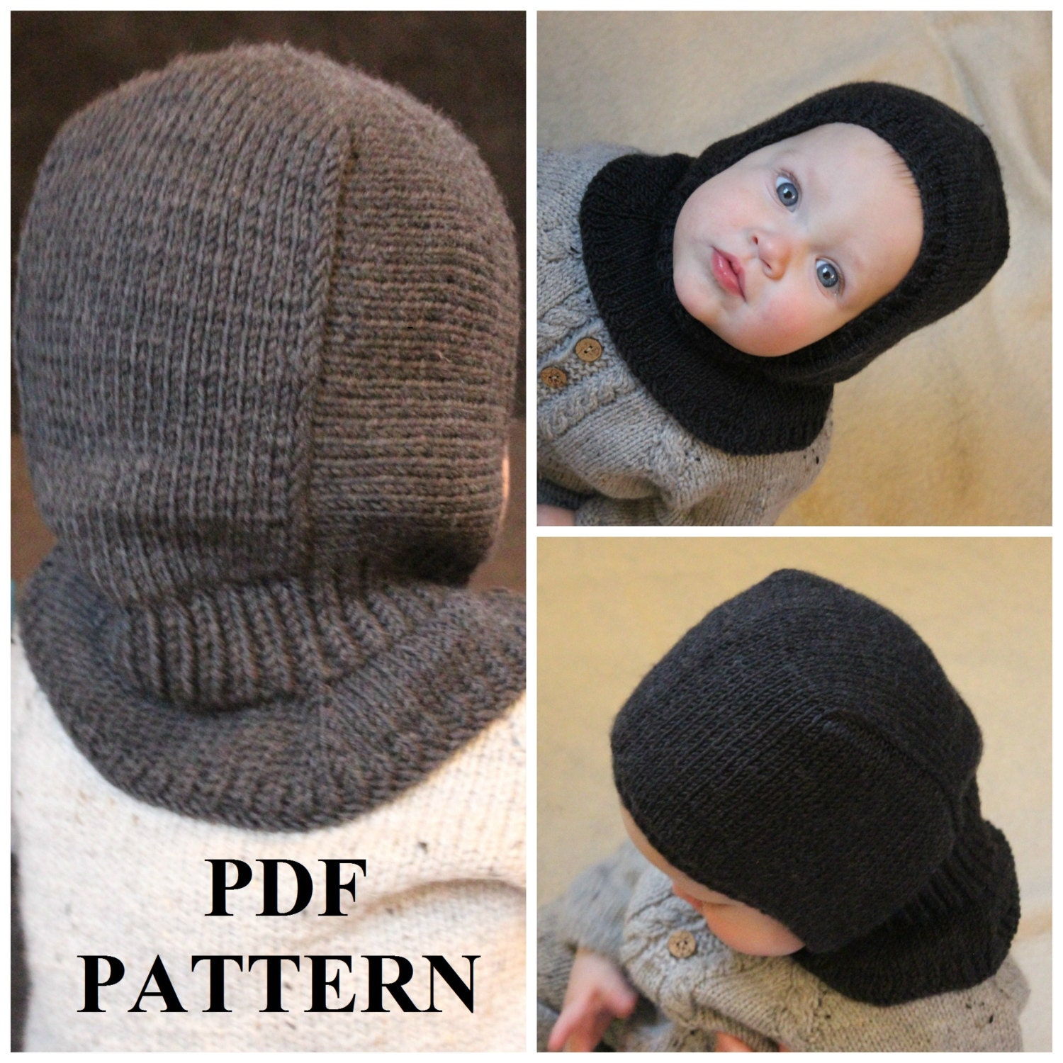 Knitting Pattern Of Baby Balaclava : Knitting PDF pattern Balaclava pattern Balaclava knitting