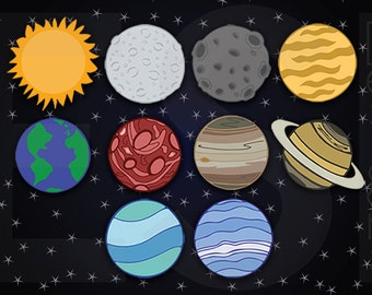 Planet cliparts – Etsy