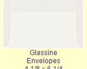 50 Pack of Glassine Envelopes 4 1/8 x 6 1/4