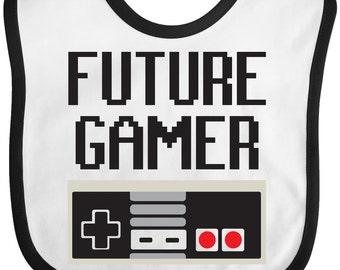 Future Gamer Baby Bib by Inktastic