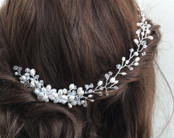 Freshwater pearl bridal headpiece, bridal hair comb, wedding hair comb, bridal accessories, pearl hair comb, bridal headpiece