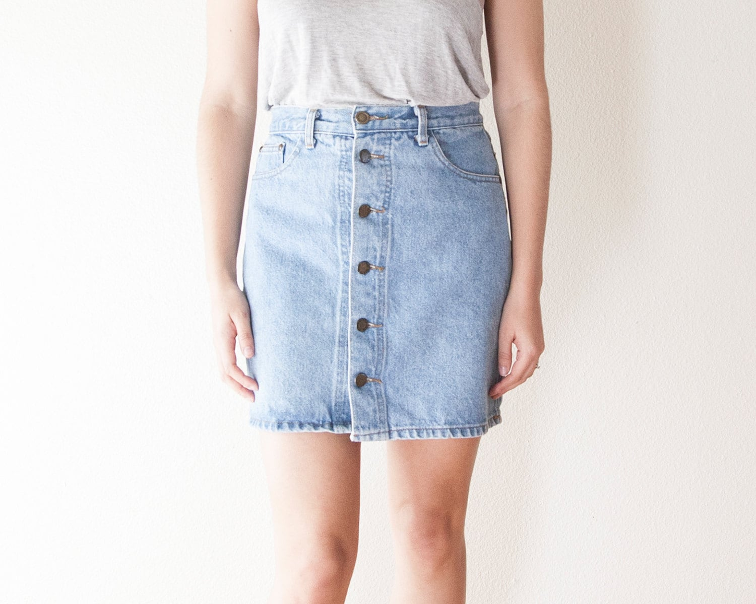 Up Denim Skirt 17