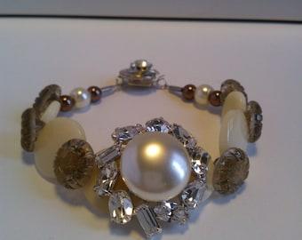 "Superb bracelet ""jewelry rhinestone"" piece UNIQUE and hand made"