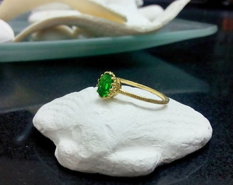 SALE! Emerald Ring, May Birthstone Ring,Gemstones Ring,Stack Stacking Ring,Gold Ring, Green Ring, Dainty Ring, Tiny Ring
