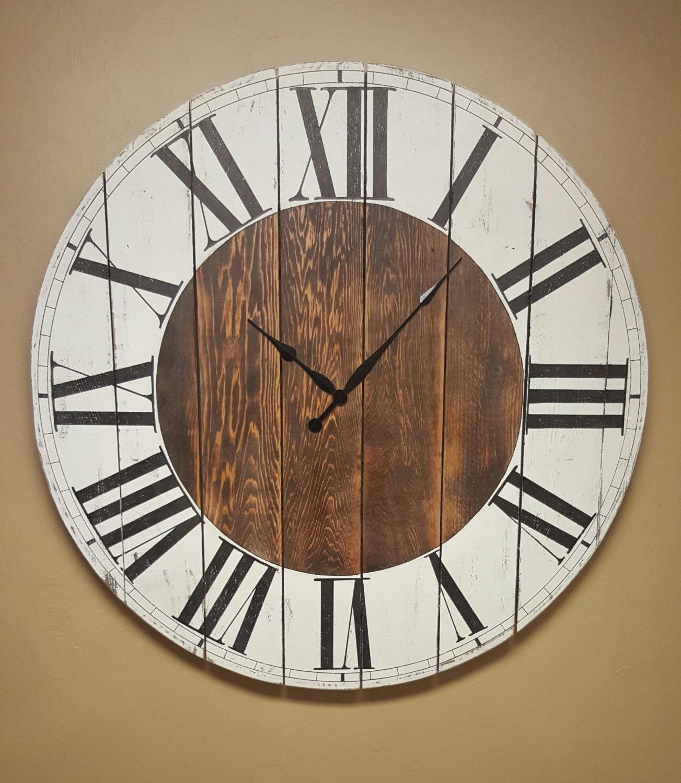 The abigail farmhouse wall clock oversized wall zoom amipublicfo Gallery