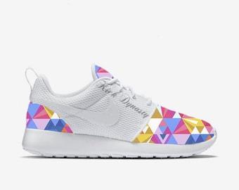 Colorful Geometric Tribal Custom Nike Roshe Run Sneakers