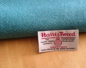 Harris Tweed Cloth Fabric Turquoise Luxury Handwoven 100% Pure Virgin Wool handwoven in Outer Hebrides Scotland