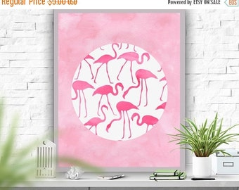 SALE Flamingo Art Print Pink decor Abstract Poster  Instant Download Printable Art  Minimalism Wall Decor Flamingo Poster 8x10 16x20 22x28