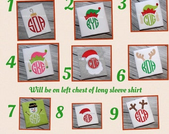 Monogrammed, Christmas, Shirt, SALE reduced 10% off!!