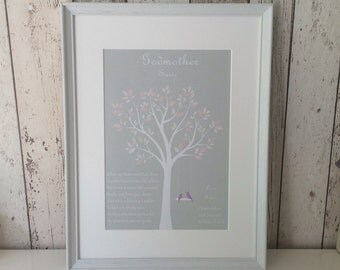 Godparent framed gift