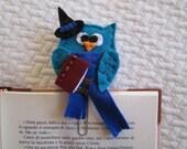 Owl Paper clip - Owl bookmark - Felt bookmark - Gift for readers