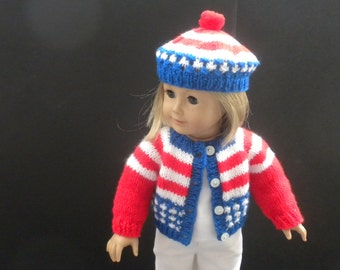 Stars and Stripes Sweater and Hat