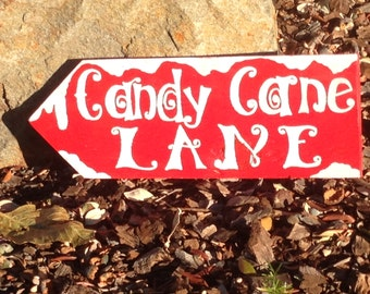 Candy Cane Lane Christmas Sign