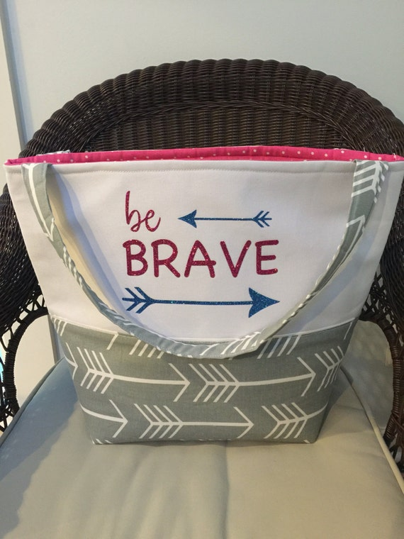 School Bag - Bible Bag - Gift for Her - Gifts for Mom - Gifts for Women - Teacher Gifts - Be Brave Tote Bag - Bible Bag - Jeremiah 29