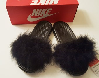30% OFF SALE! Nike Fur Slides