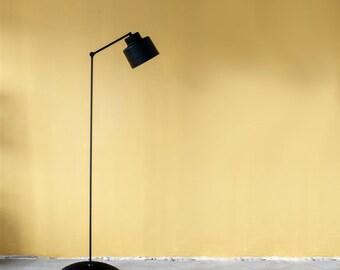 Modern Floor Lamp, Aluminium Black Lamp,  Minimal Lamp, Lamp with movable arm, Bedroom Lamp, Scandinavian Lamp, Lampion, Handmade Lamp