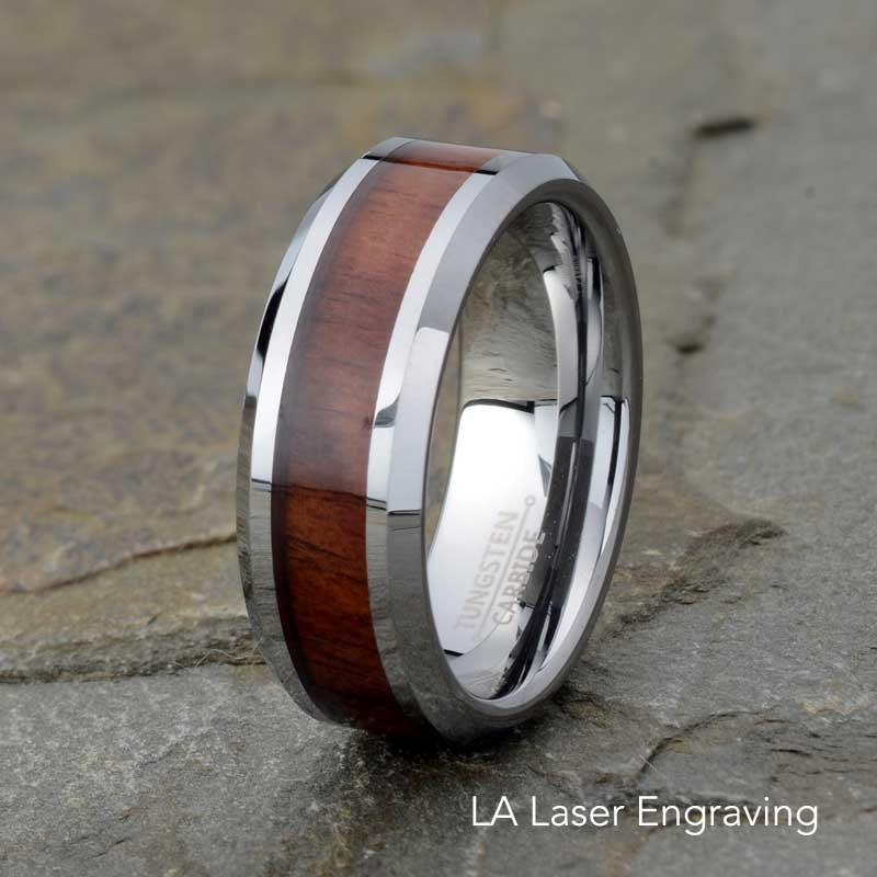 Wood Tungsten Bands: Wooden Tungsten Wedding Band Mens Wedding Ring By