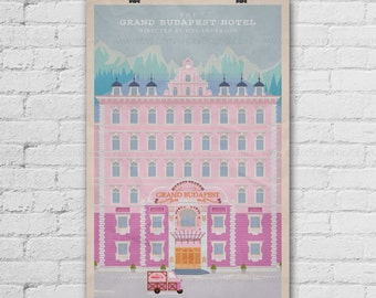 The Grand Budapest Hotel Art Print. Wes Anderson Films Poster. Pop Art Print. Pop Culture and Modern Home Decor Poster. Item No. 154