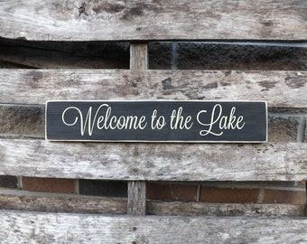 Welcome to the Lake Lake house sign, welcome sign wall hanging,Lake  signs