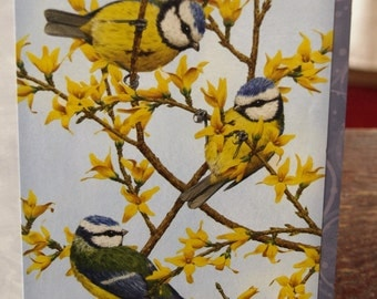 3 Birds on Branches Card