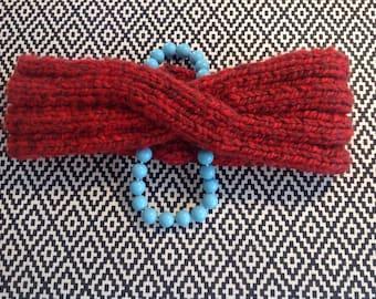 "Handmade Knitted Headband  ""The Alexandra""  A0012"
