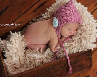 Newborn Knit Pixie Hat