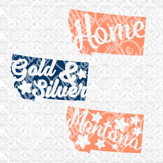 Montana Chevron Outline Monogram State Set SVG STUDIO Ai EPS Scalable Vector Instant Download Commercial Use Cutting File Cricut Silhouette