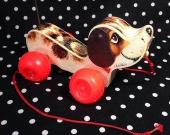 Vintage Fisher Price Little Snoopy Pull Toy
