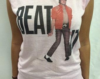 "1984 Michael Jackson ""Beat It"" T Shirt Women's L"
