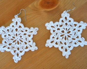 "Shop ""crochet snowflakes"" in Jewelry"