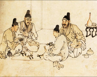 24x36 Poster . Ancient Chinese Secret Gambling