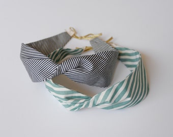 Striped cotton headband