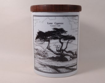 Porcelain Canister made in Germany for Corner Cupboard Carmel by the Sea