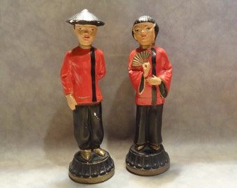 1950s Backer ABCO Asian Figurines