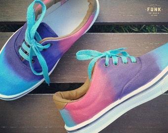 Hand Painted Degradee Sneakers
