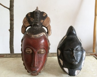 Set of 2 african passport mask.