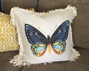 "Butterfly Pillow Cover 22"" x 22"""
