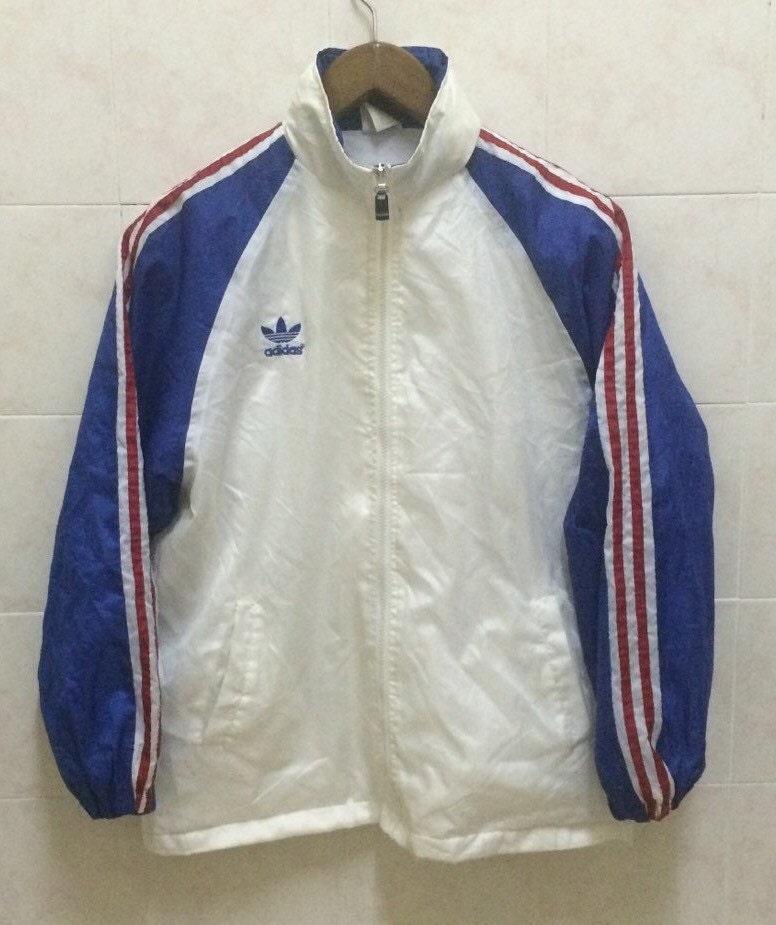 Rare Vintage Adidas Trefoil Jacket Windbreaker Sweater Size