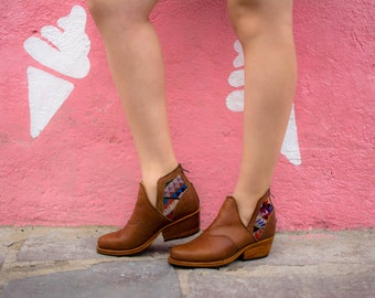 Chichi ankle boots - Handmade in Guatemala