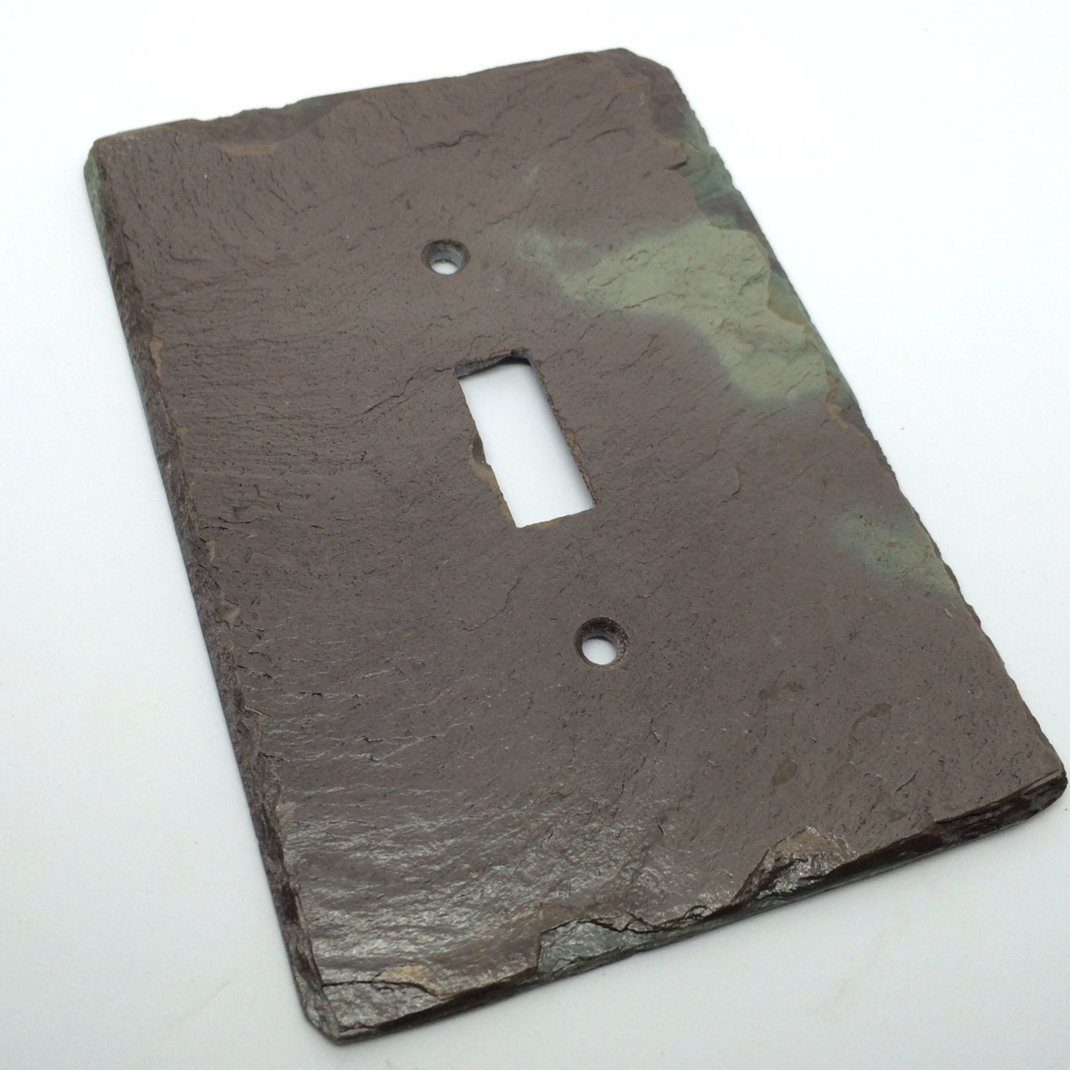 Light Switch Plate Cover: Decorative Light Switch Cover Purple Green Natural Slate