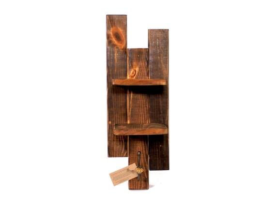 Handmade Hand Towel Shelf w/Hook  --- Flintface Woodshop