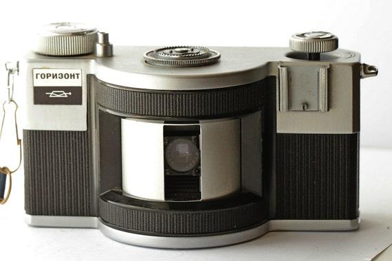 HORIZONT Soviet 35mm Panoramic Camera Collectible KMZ USSR #7100919