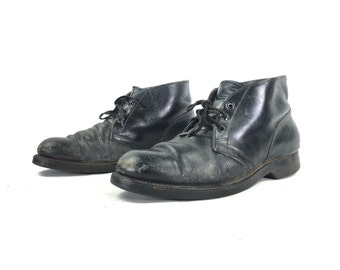 Size 9.5 R - Genesco Men's Vintage Chukka Style Military Combat Boots Dated April 1972