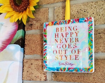 Lilly Pulitzer Home Lilly Pulitzer Decor Ready To Ship Cute Signs Ceramic Tile Resin Mold Gifts For Her Gifts For Women  Lilly Pulitzer Mono