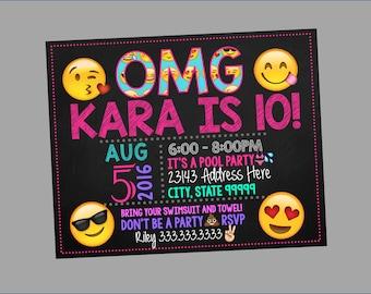 Emoji Invitations, Emoji Birthday, Emoji Text Invitation, Emoji Party, Emoji Birthday Invitation, Emoji Birthday Party